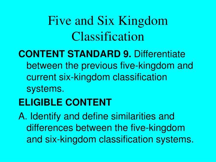 Five and Six Kingdom Classification