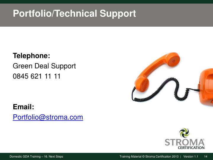 Portfolio/Technical Support