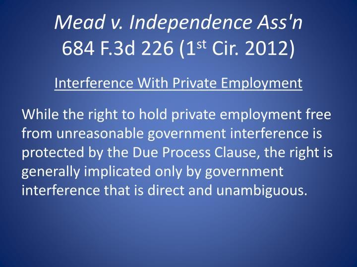 Mead v. Independence