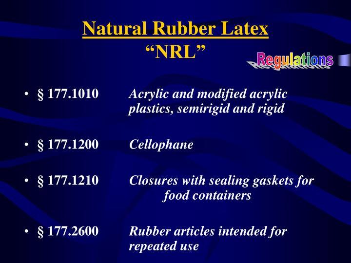 Natural Rubber Latex
