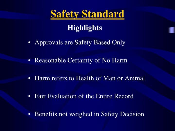 Safety Standard