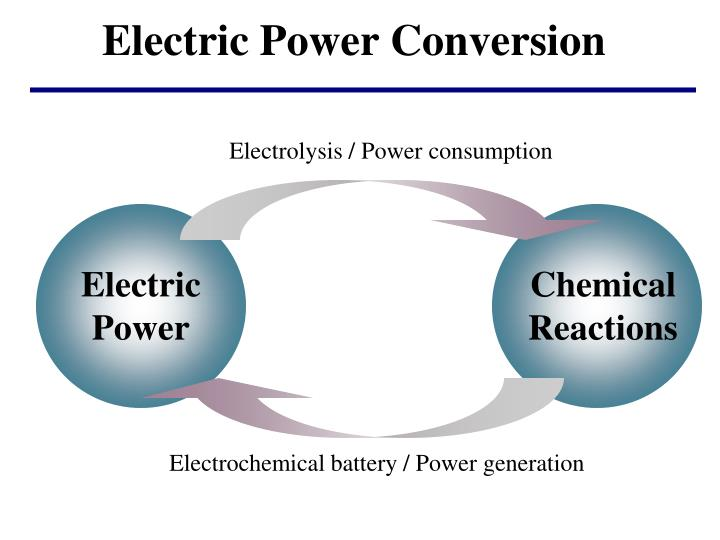 Electrolysis / Power consumption