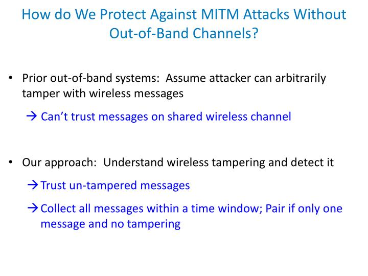 How do We Protect Against MITM Attacks Without