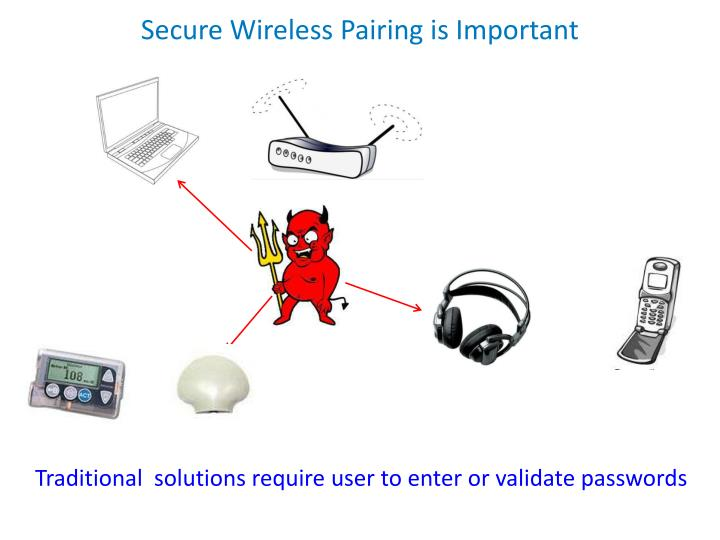 Secure Wireless Pairing is Important