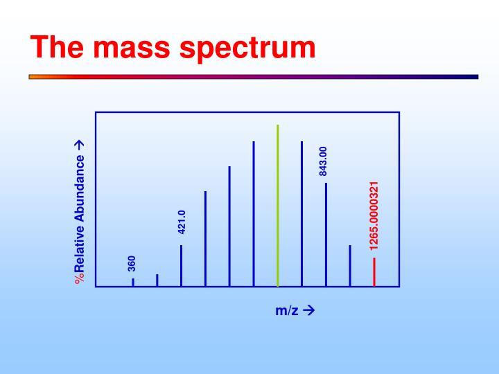 The mass spectrum