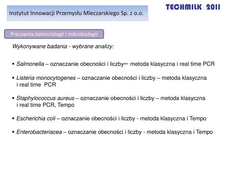 Instytut Innowacji Przemysłu Mleczarskiego Sp. z o.o.