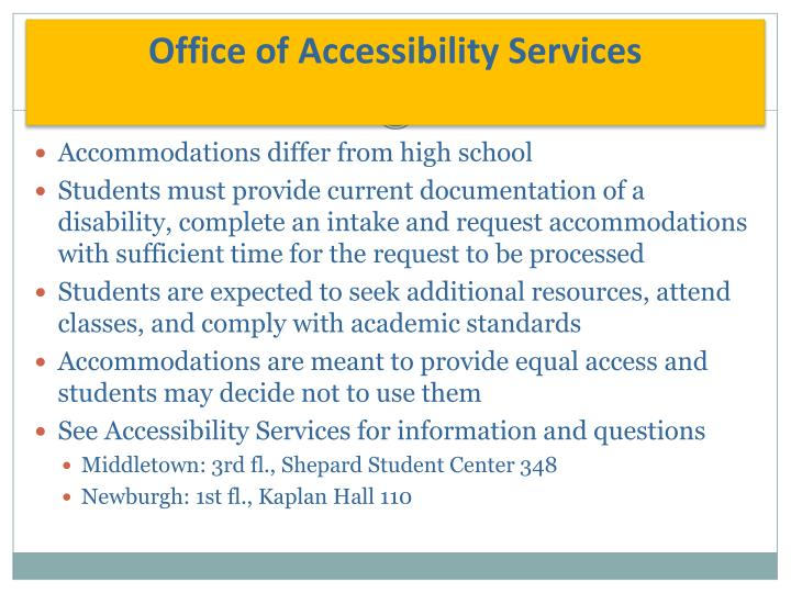 Office of Accessibility Services