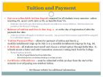tuition and payment