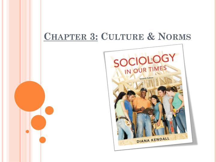 Chapter 3 culture norms
