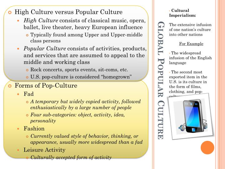 High Culture versus Popular Culture