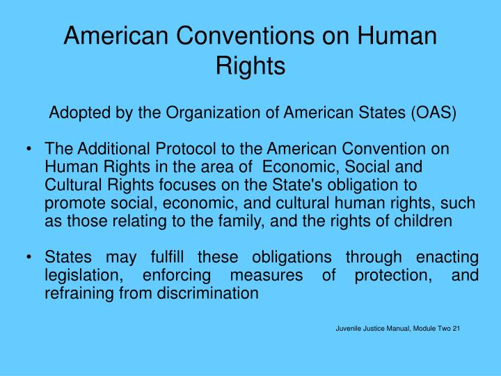 American Conventions on Human Rights