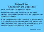 beijing rules adjudication and disposition