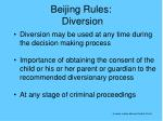 beijing rules diversion