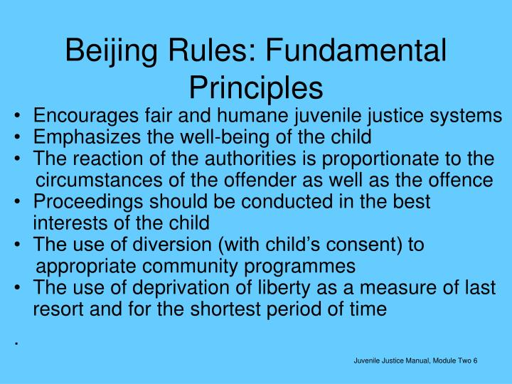 Beijing Rules: Fundamental Principles