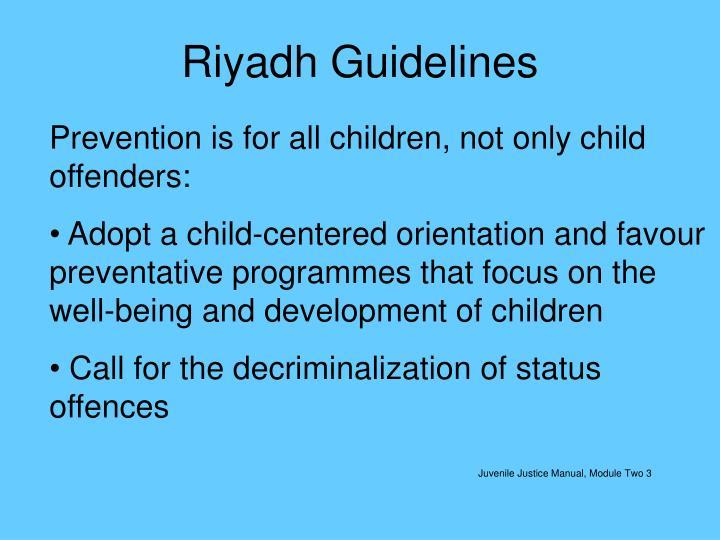 Riyadh Guidelines
