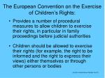 the european convention on the exercise of children s rights
