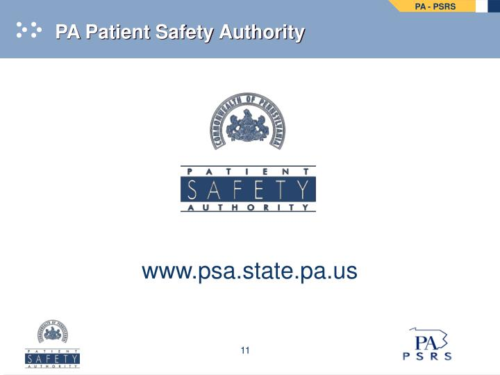 PA Patient Safety Authority