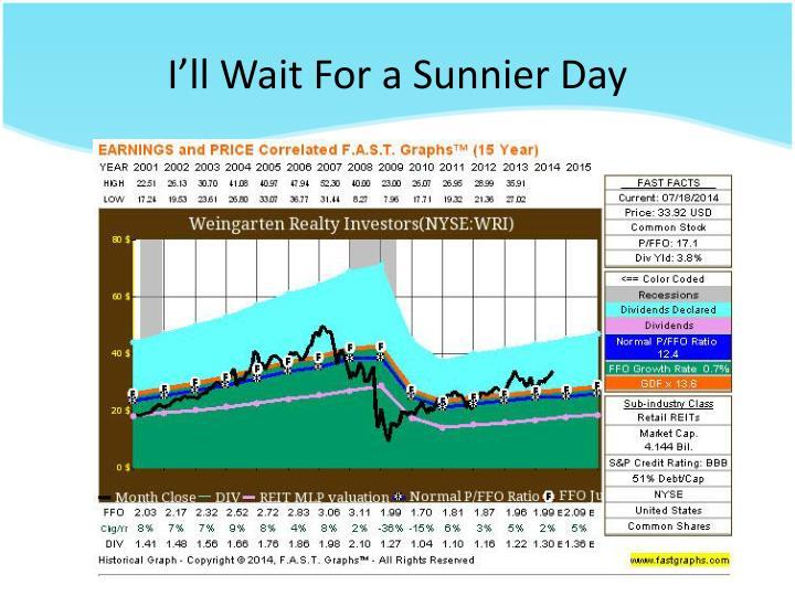 I'll Wait For a Sunnier Day