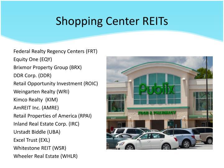 Shopping Center REITs