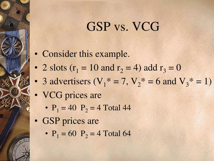 GSP vs. VCG