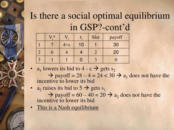 Is there a social optimal equilibrium in GSP?-cont'd