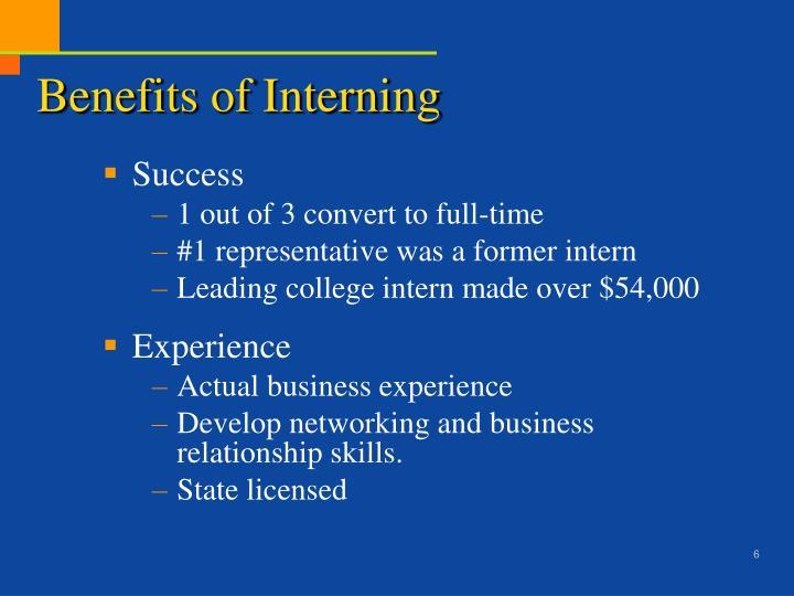 Benefits of Interning