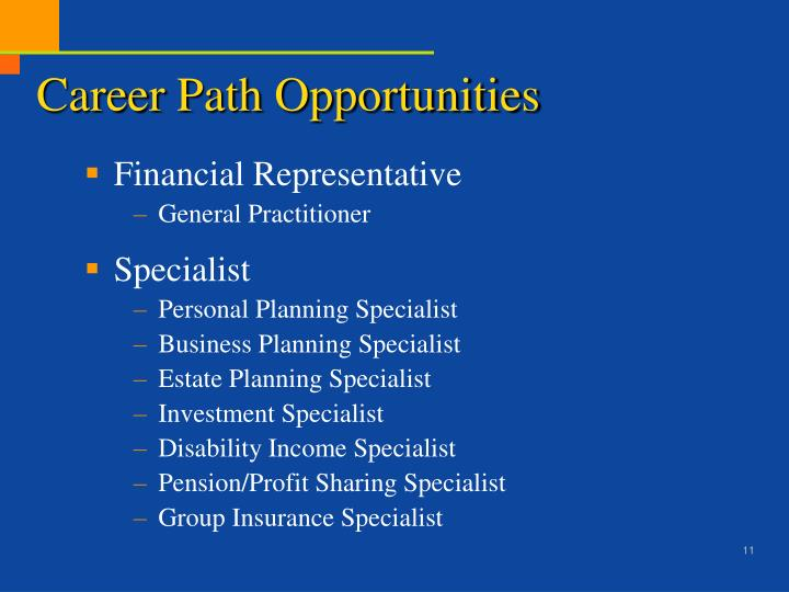 Career Path Opportunities