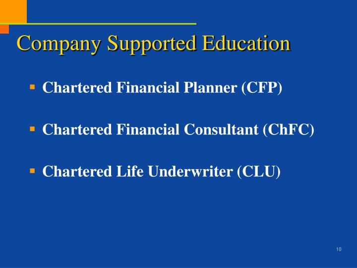 Company Supported Education