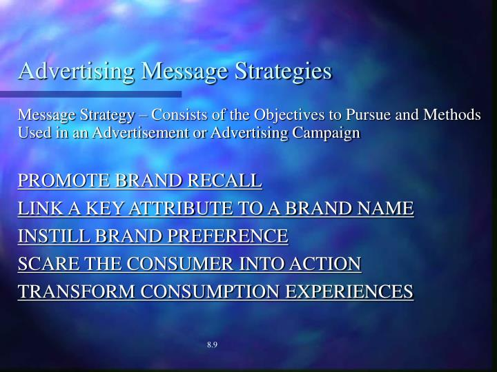 Advertising Message Strategies