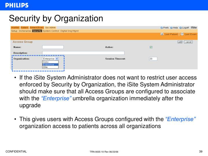 Security by Organization