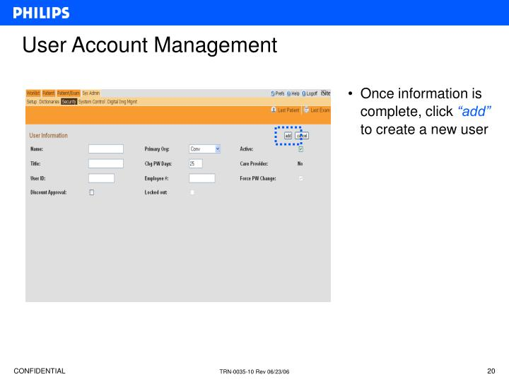 User Account Management