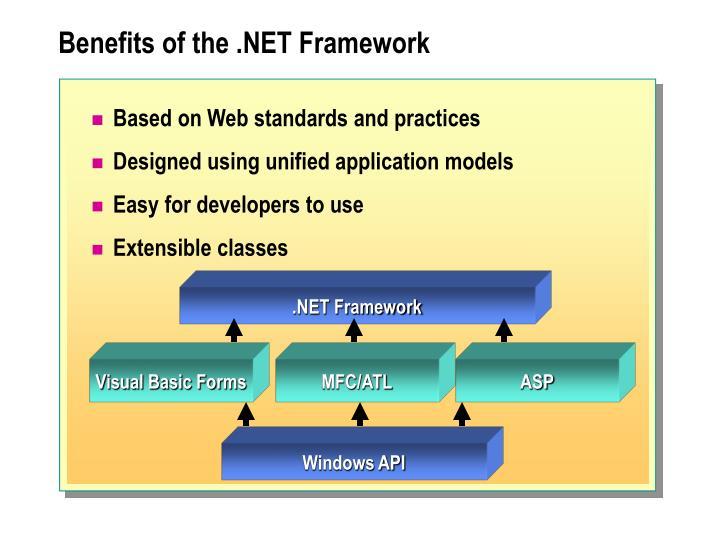 Benefits of the .NET Framework