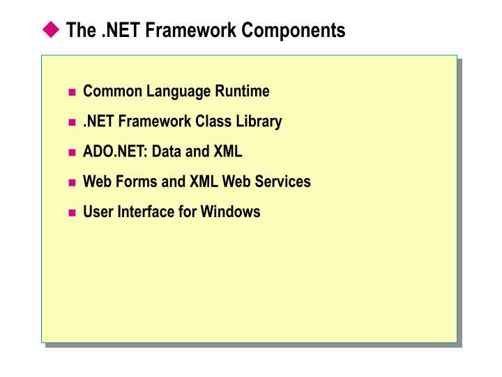 The .NET Framework Components