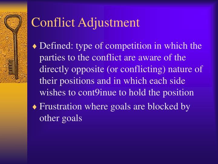 Conflict Adjustment