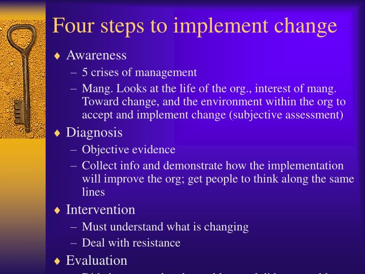 Four steps to implement change
