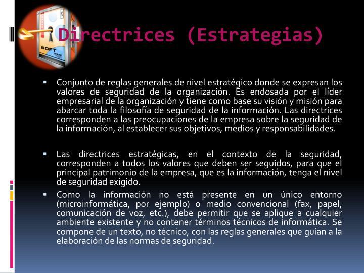Directrices (Estrategias)