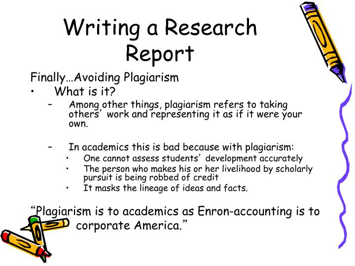 Writing a Research Report