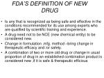 fda s definition of new drug