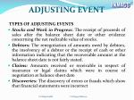 adjusting event2