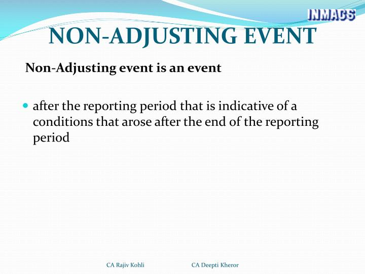 NON-ADJUSTING EVENT