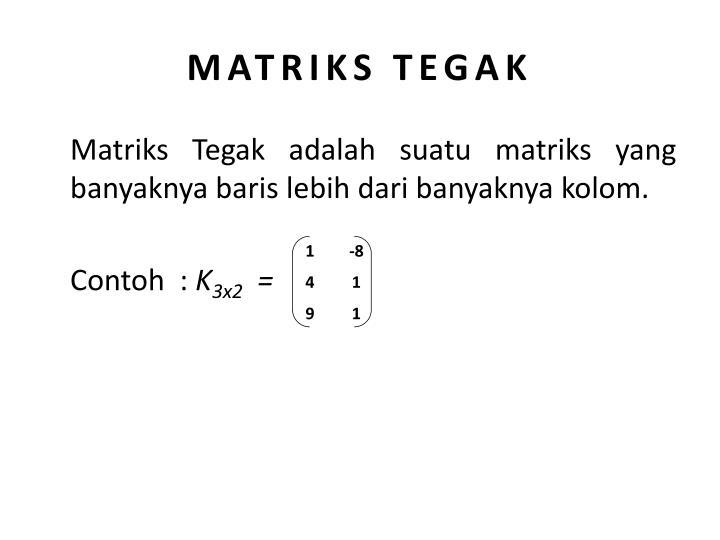 MATRIKS TEGAK