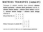 matriks transpos notasi a t