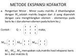 metode ekspansi kofaktor