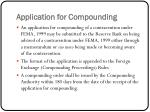 application for compounding