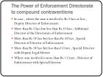 the power of enforcement directorate to compound contraventions
