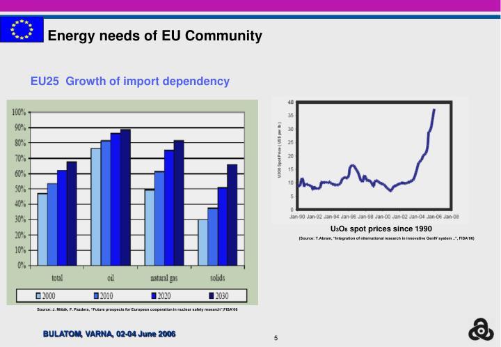 Energy needs of EU Community