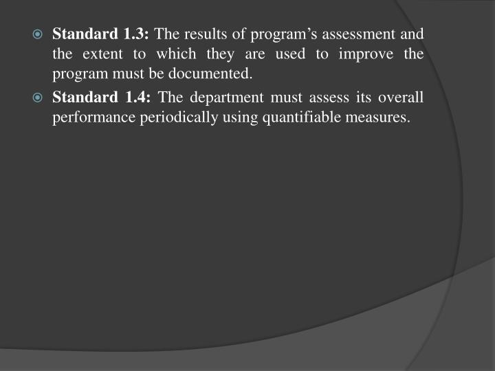 Standard 1.3: