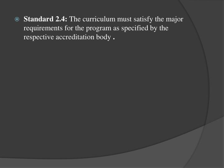 Standard 2.4: