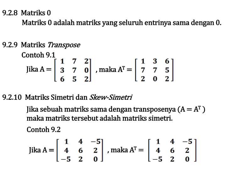 9.2.8  Matriks 0