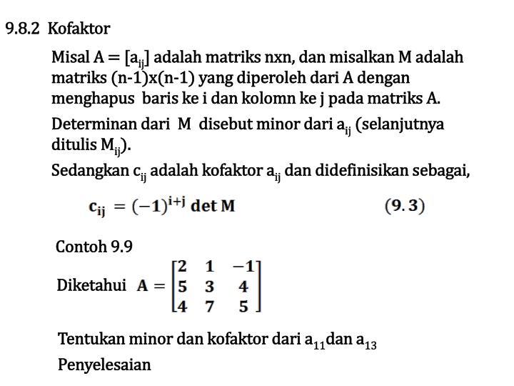 9.8.2  Kofaktor